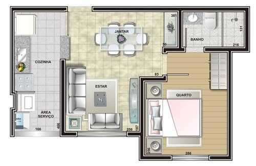 Maison avec une petite pièce