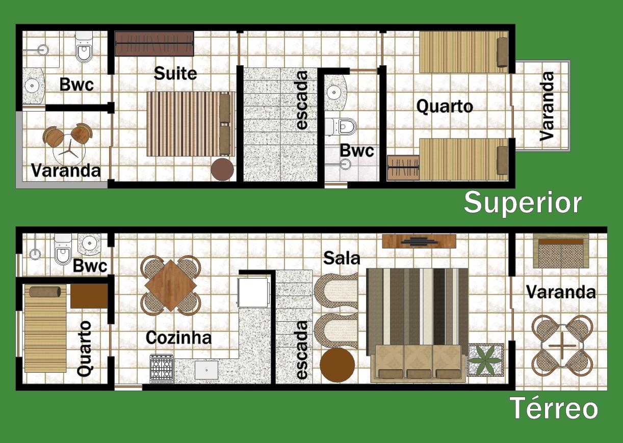 Maison en duplex avec trois chambres