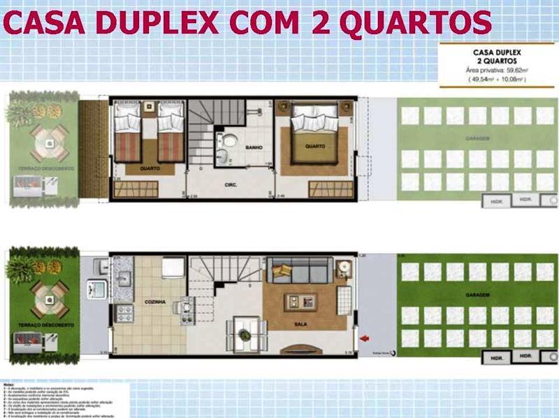 Maison en duplex avec deux chambres