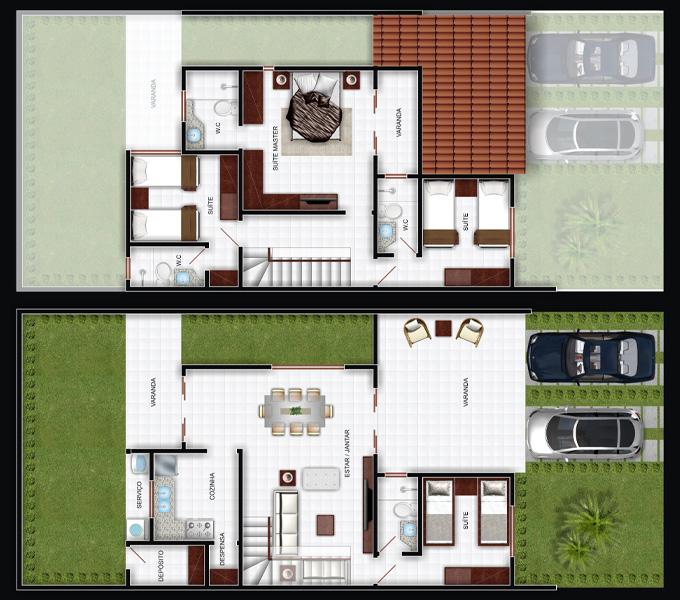 Plan de la maison avec garage