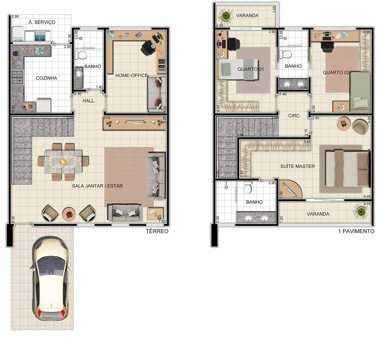 Maison avec garage