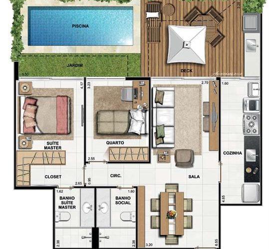 1584584600 84 8 modeles de plans de maison avec 2 chambres a