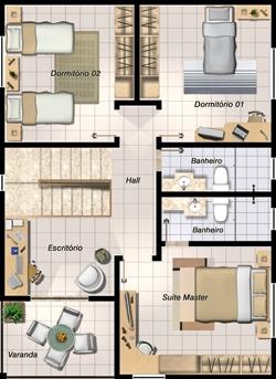 Plan d'une maison de trois chambres à coucher