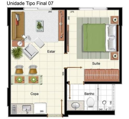 Petite maison d'une chambre