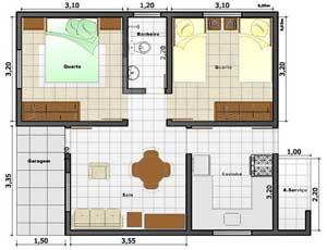Plan de la maison avec deux petites pièces