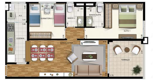 Petite maison de deux chambres à coucher
