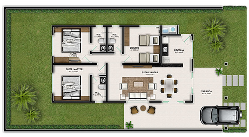 Maison avec trois chambres et petit