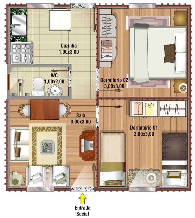Plan de la petite maison