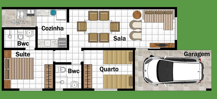 Plan de quatre salles