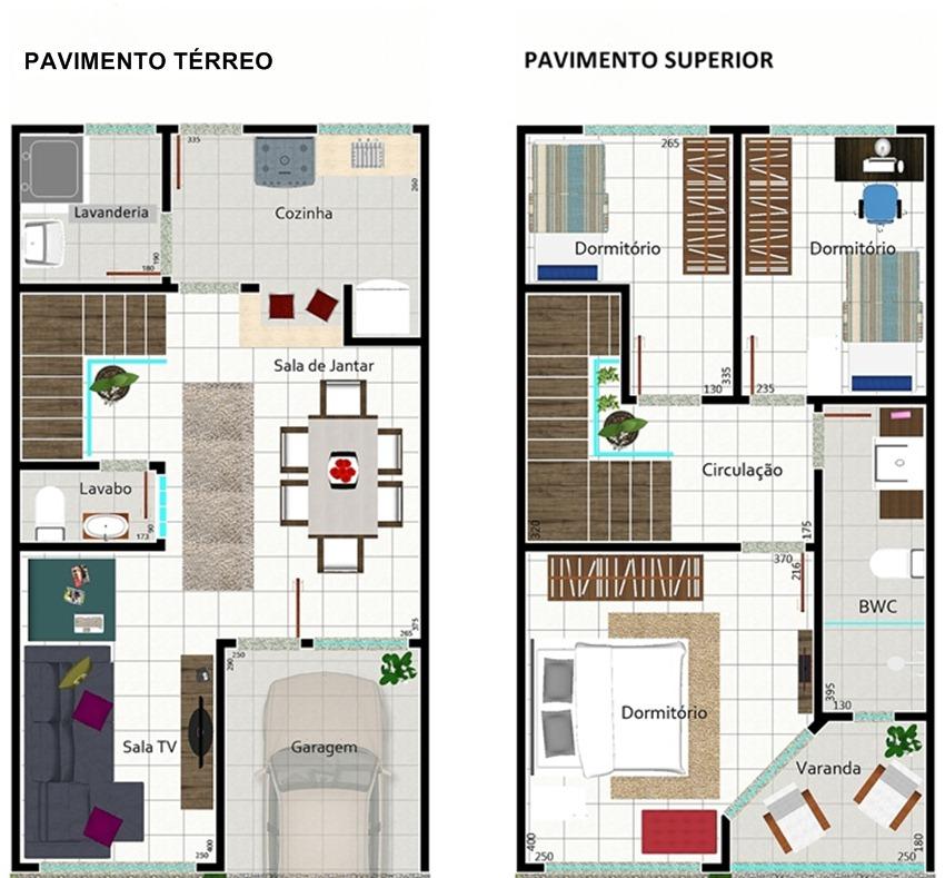 Plan de la maison jumelée