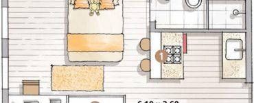 Modèles de cuisinettes Kitnet 10 projets