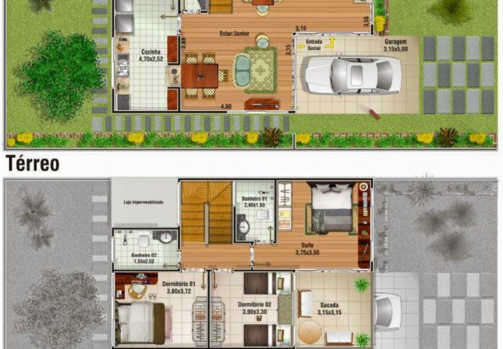 Plans de duplex 15 modèles