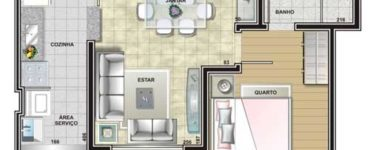 Plans de maison avec 1 chambre