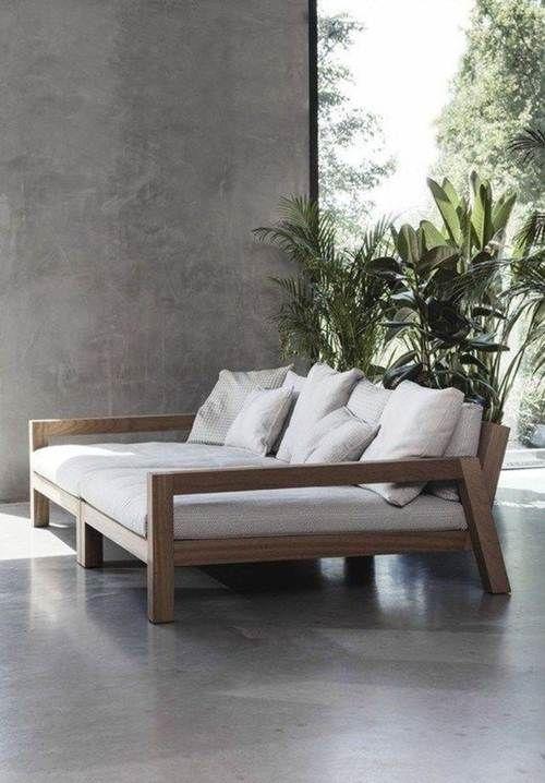 canapé en bois
