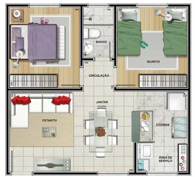 Maison avec deux chambres