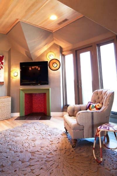 Superbe modèle moderne de tapis au crochet à utiliser dans un salon