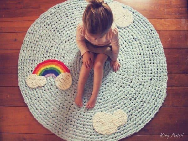 tapis à cordes quatrième enfant arc-en-ciel