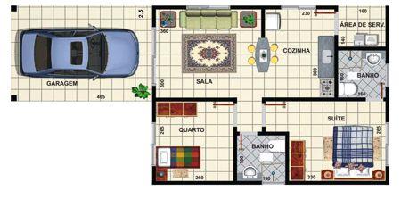 Plans de maison avec 2 chambres
