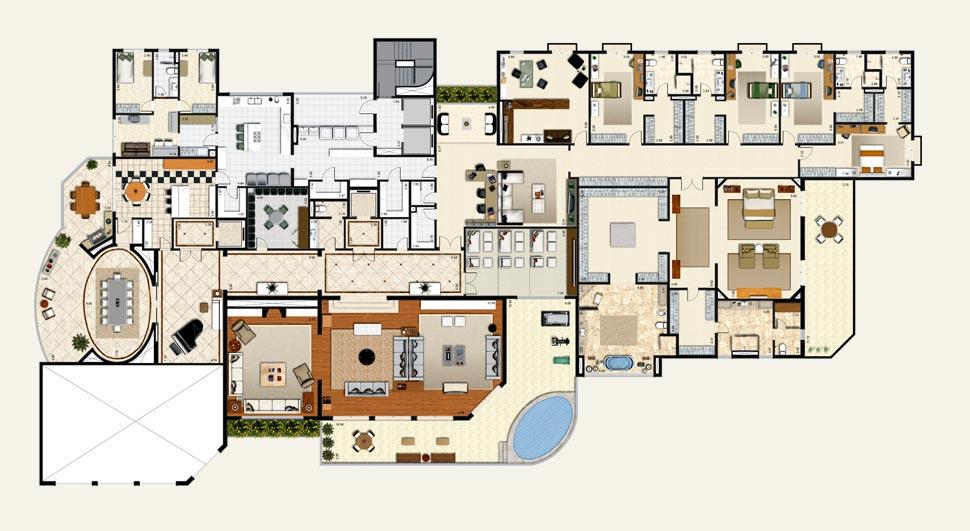 Plantes de maisons de luxe