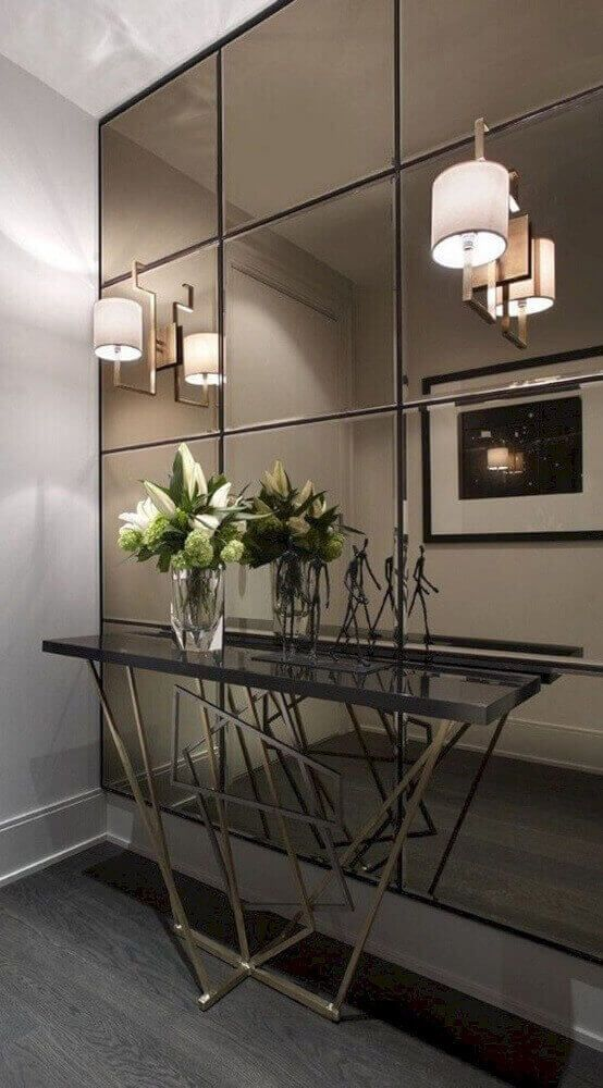 décoration murale complète des miroirs