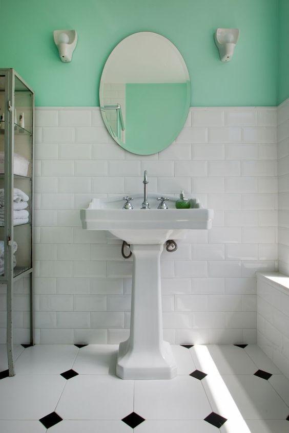 la décoration rétro des salles de bains