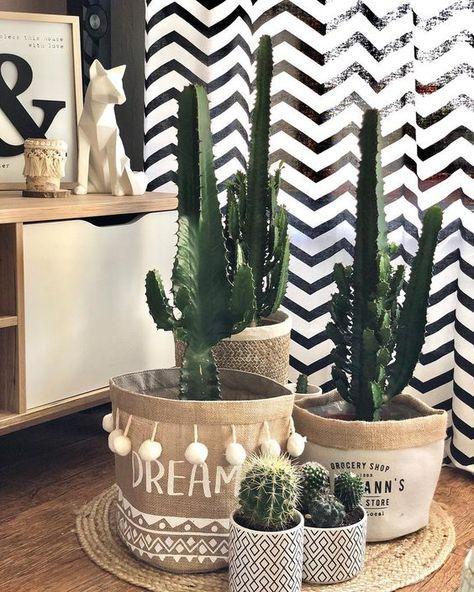 décoration avec des plantes dans la salle de bains