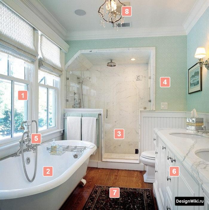 Caractéristiques de la salle de bain de style provençal #design #bathroom design