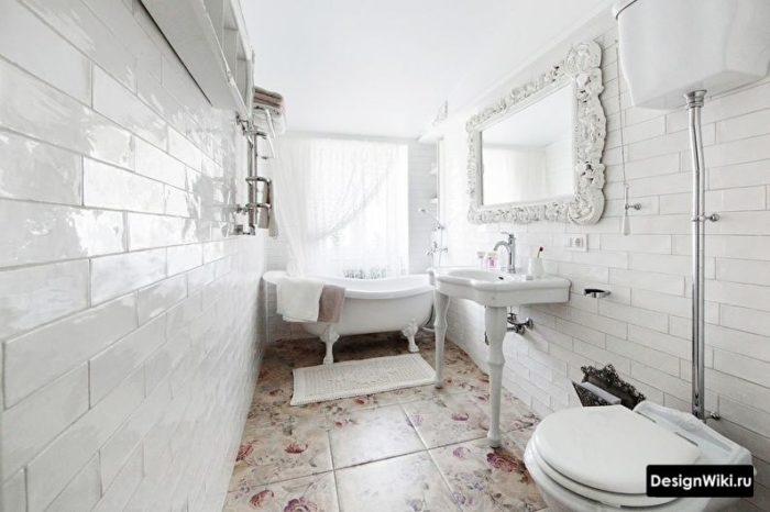 Salle de bain shabby chic