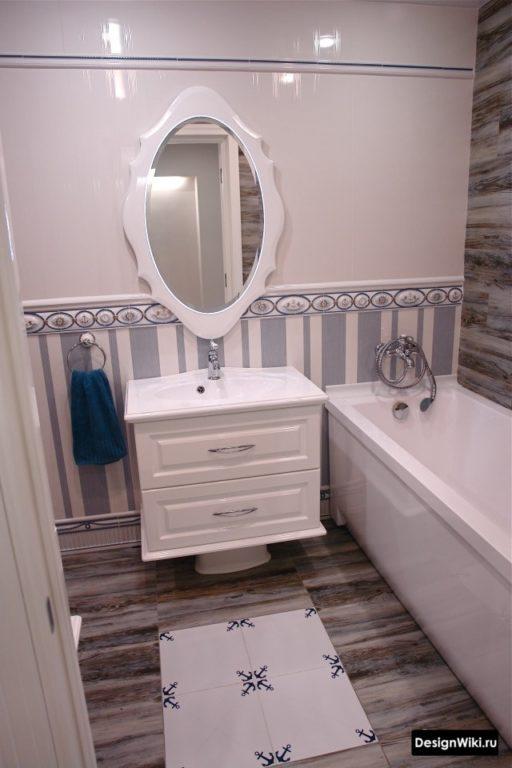 Style provençal dans une petite salle de bain dans un appartement #design #salle de bain