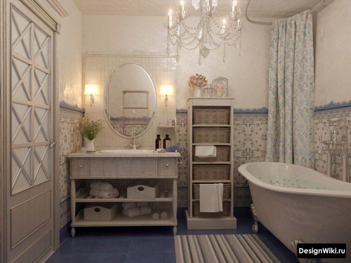 Salle de bain classique de style provençal