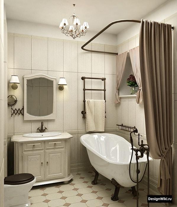 Textiles de salle de bain de style provençal