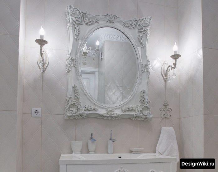 Salle de bain lumineuse de style classique #interior #designbathroom
