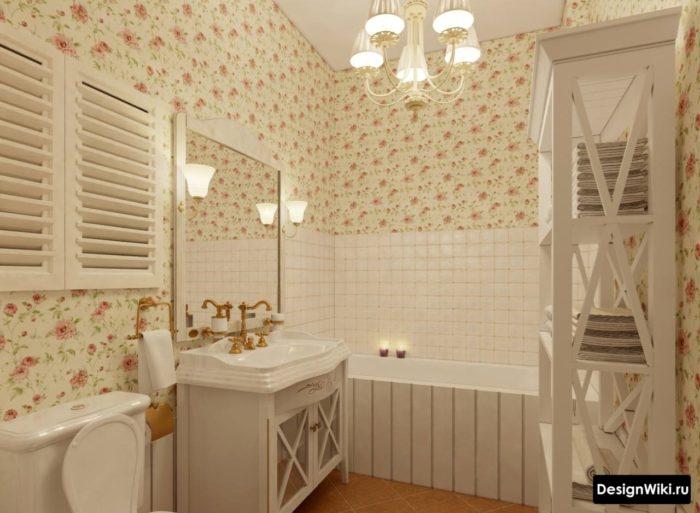 Salle de bain dans un appartement shabby chic