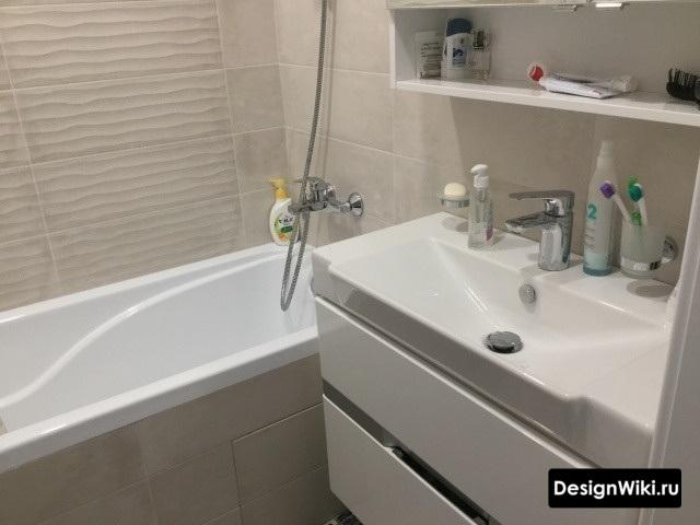 Rénovation soignée de la salle de bain à Khrouchtchev
