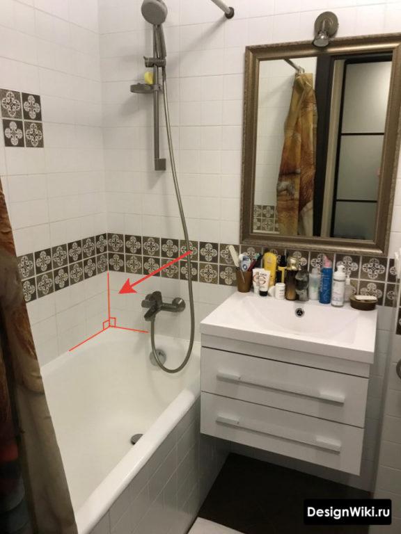 Plâtrage des murs de la salle de bain à Khrouchtchev # design d'intérieur # salle de bain