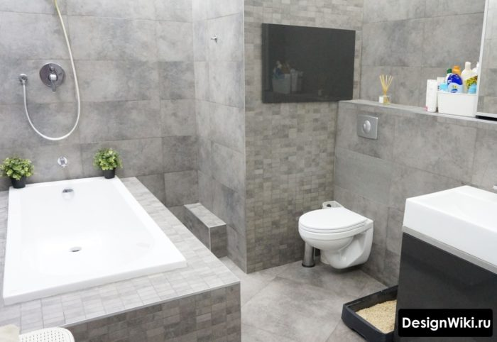 Comment choisir les carreaux de salle de bain gris