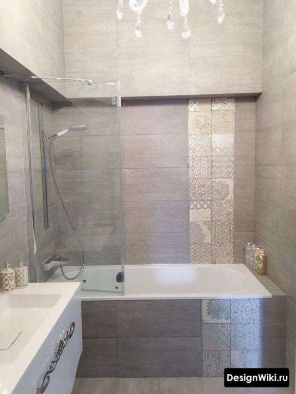 Choisir un décor pour les carreaux gris dans la salle de bain # design d'intérieur # design de salle de bain