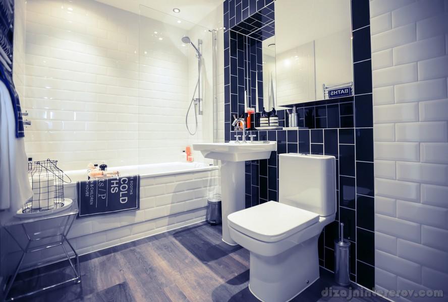 Conception de salle de bain bleue: plus de 100 exemples de photos réelles et points forts du design