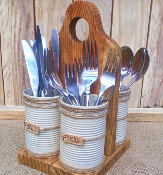 Support pour cuillères et fourchettes