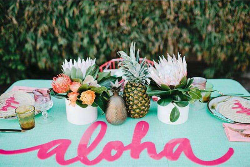 Réglage de la table hawaïenne