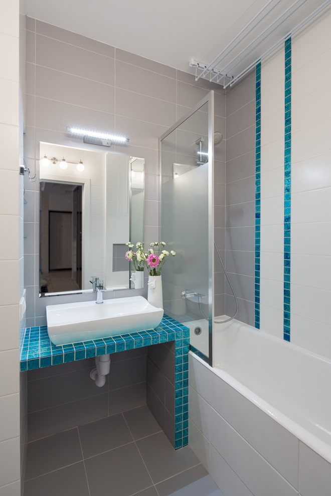 salle de bain partagée dans l'appartement de Khrouchtchev