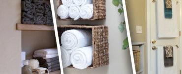 Как хранить полотенце в ванной комнате?