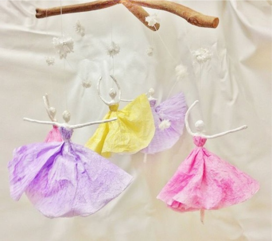 Ballerines de serviettes en forme de mobile