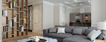 Интерьер кухни-гостиной 44 кв.м. — Каменноостровский пр. 62
