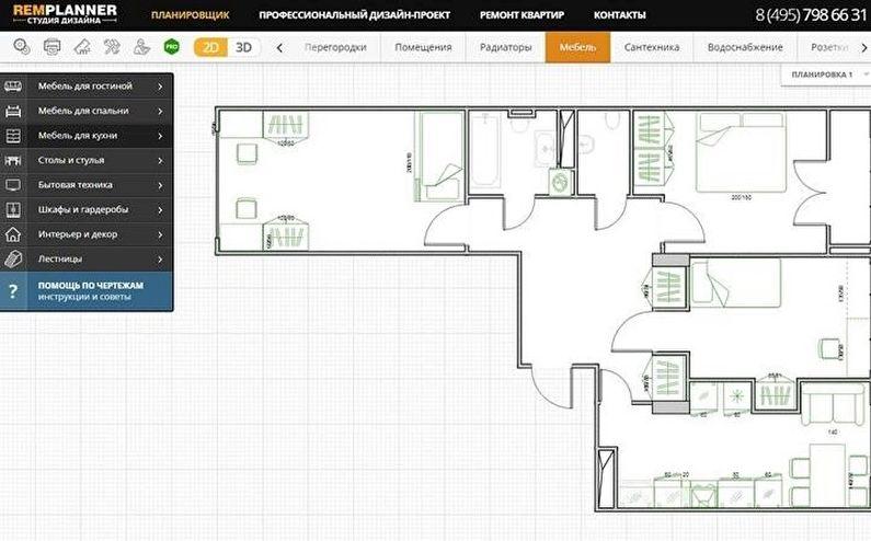 Remplanner.ru: онлайн-планировщик интерьеров с полным комплектом чертежей для ремонта!