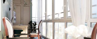 Rideaux pour le balcon et la loggia idees modernes et