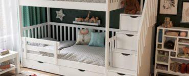 lit superposé dans la chambre d'enfant d'ikea