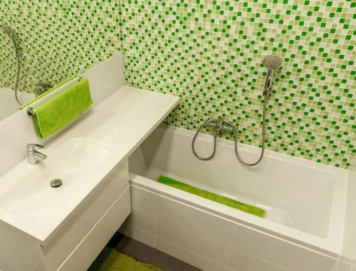 mosaïque de décoration de salle de bain
