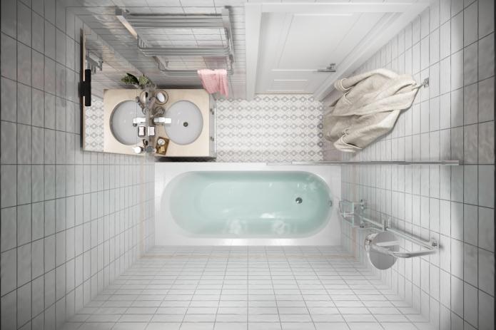 Как красиво оформить интерьер ванной комнаты 2 кв?
