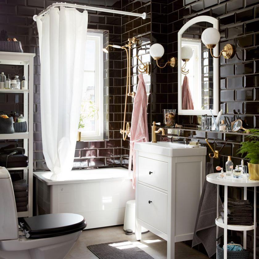 Lampes Ikea dans la salle de bain